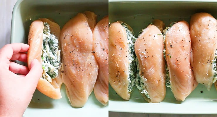 fill chicken breasts with filling