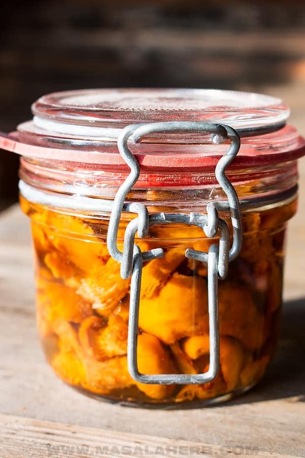 jarred mushrooms