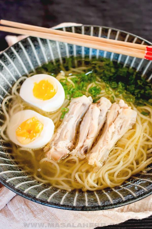 Japanese chicken ramen