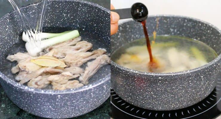 cook ramen broth