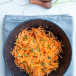 carrot salad grated ina bowl