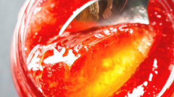 close up quince jelly