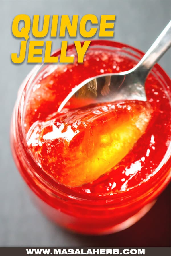 Quince Jelly Recipe pin image