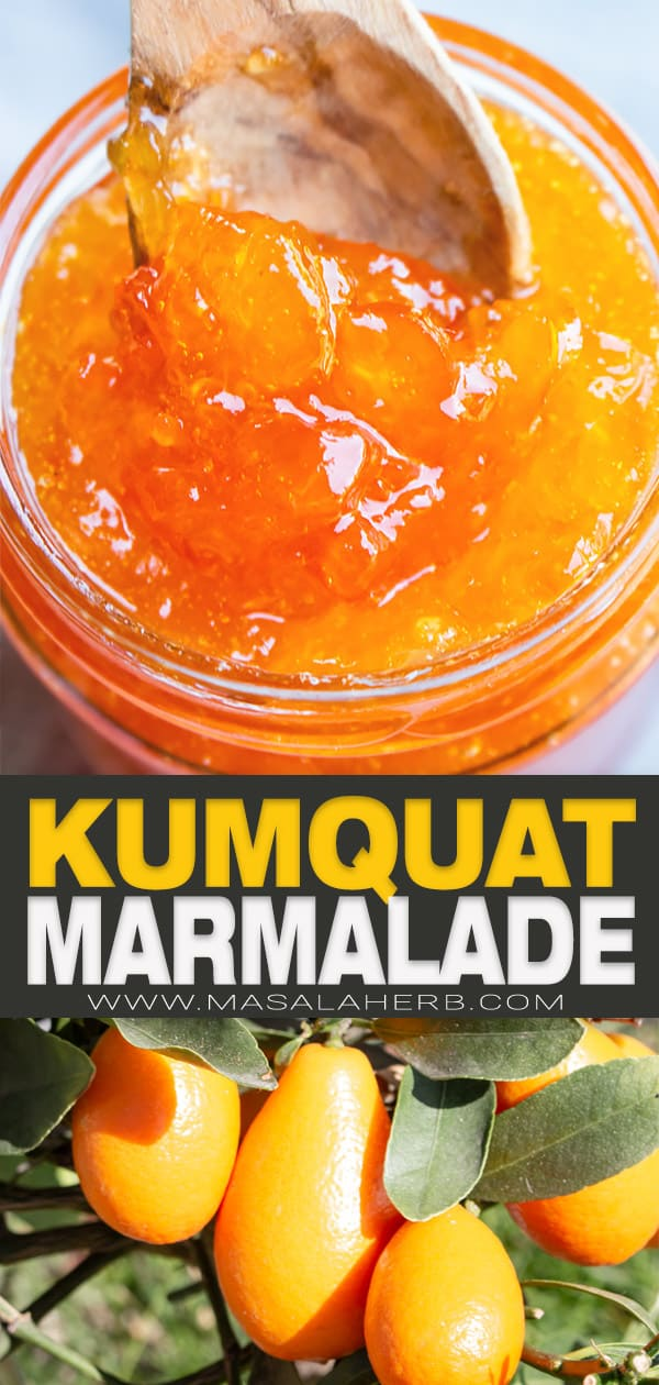 kumquat marmalade recipe pin image
