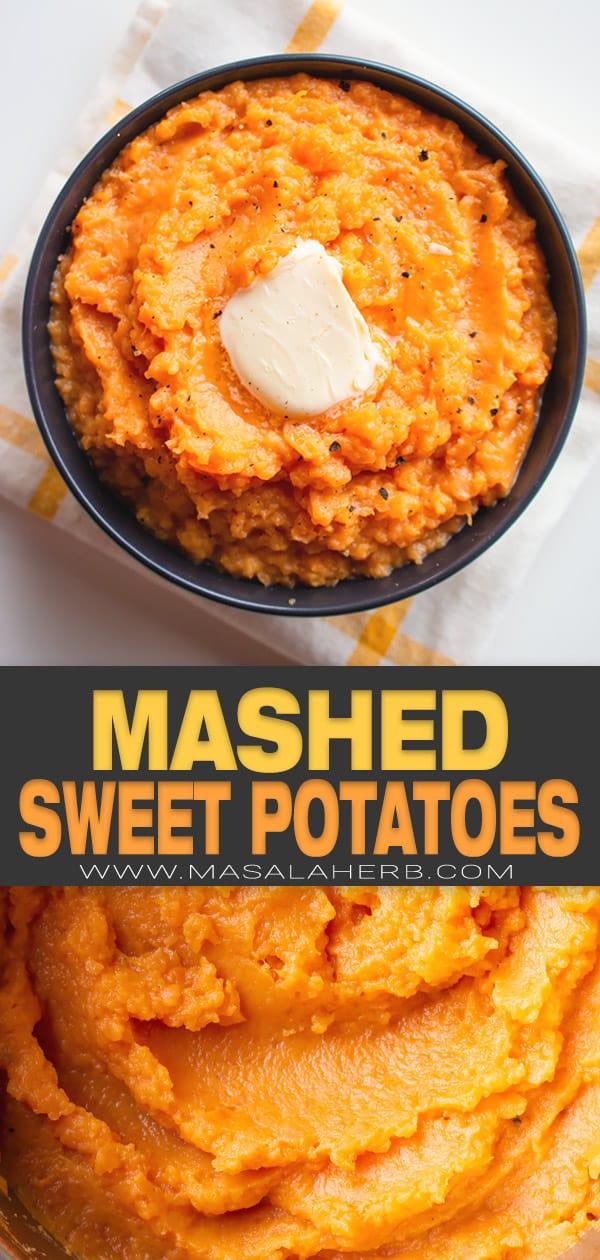Mashed Sweet Potato Recipe pin image