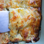 oven baked casserole with potato and egg