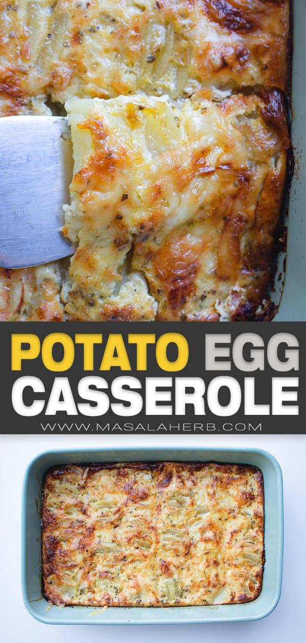 egg potato casserole pin image