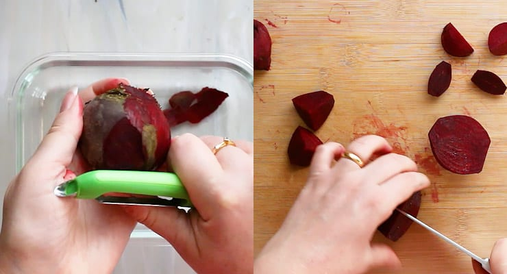 peel and cut beets