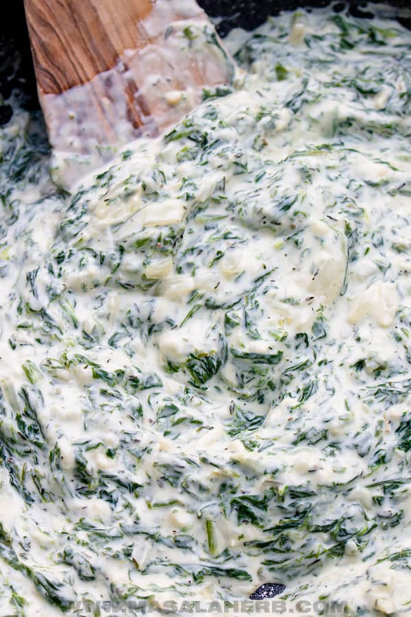 spinach with cream cheese