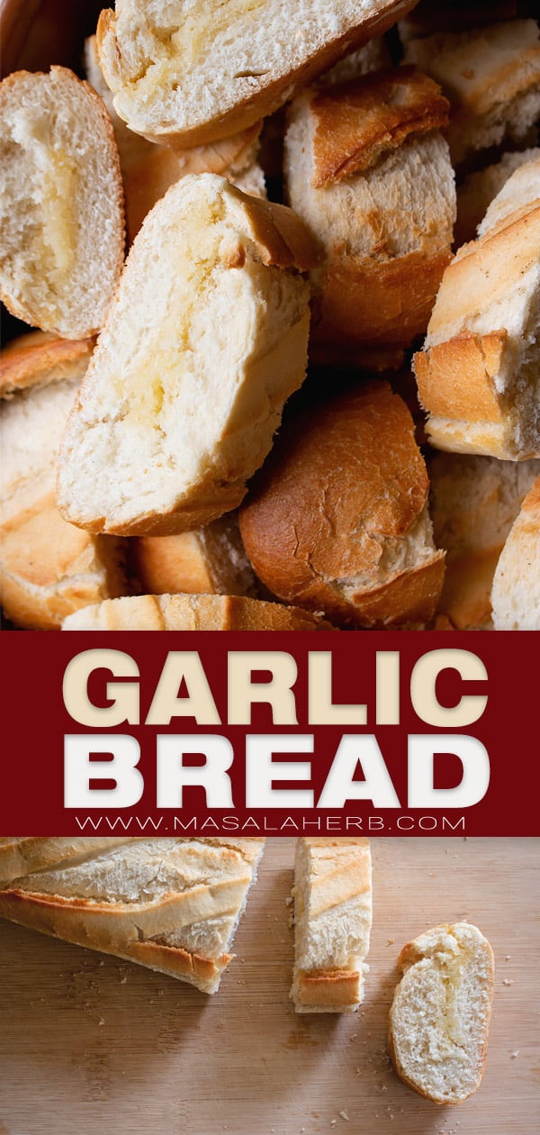garlic bread pin image