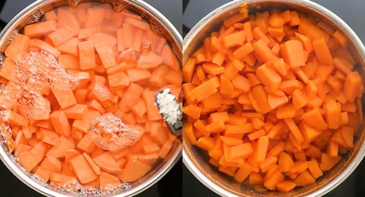 cook sweet potatoes soft