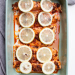 baked spiced salmon fillet for the family
