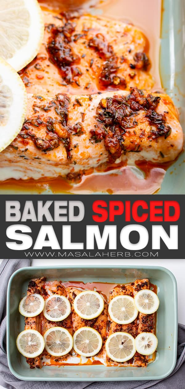 Baked Spiced Salmon Fillet Recipe