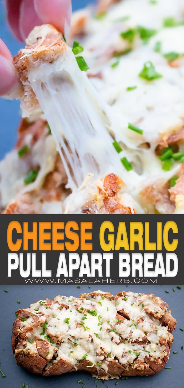 Cheesy Garlic Pull Apart Bread pin image