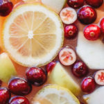 close up of fruits in christmas ounch