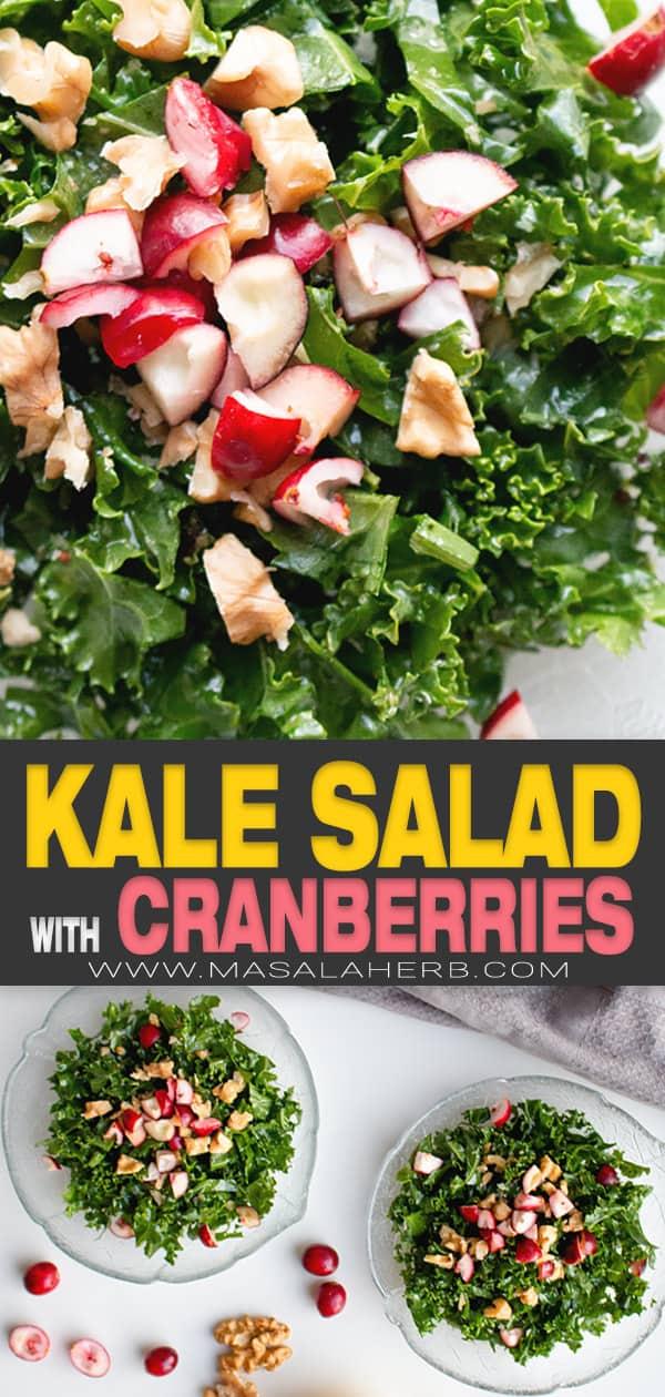 lemon cranberry kale salad