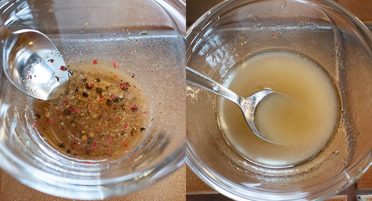 prepare vinegar dressing