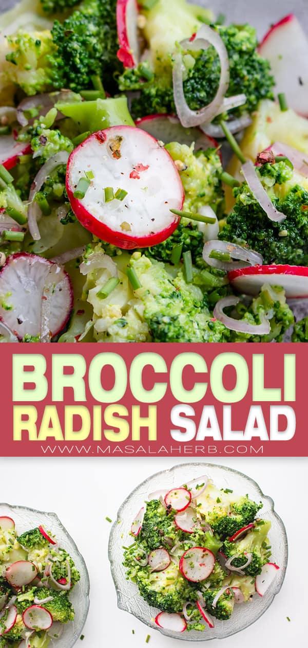 radish and broccoli side dish salad