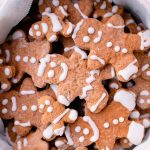 homemade baked gingerbread cookies