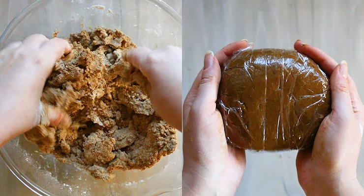 prepare gingerbread dough