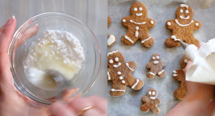 decorate gingerbread cookies