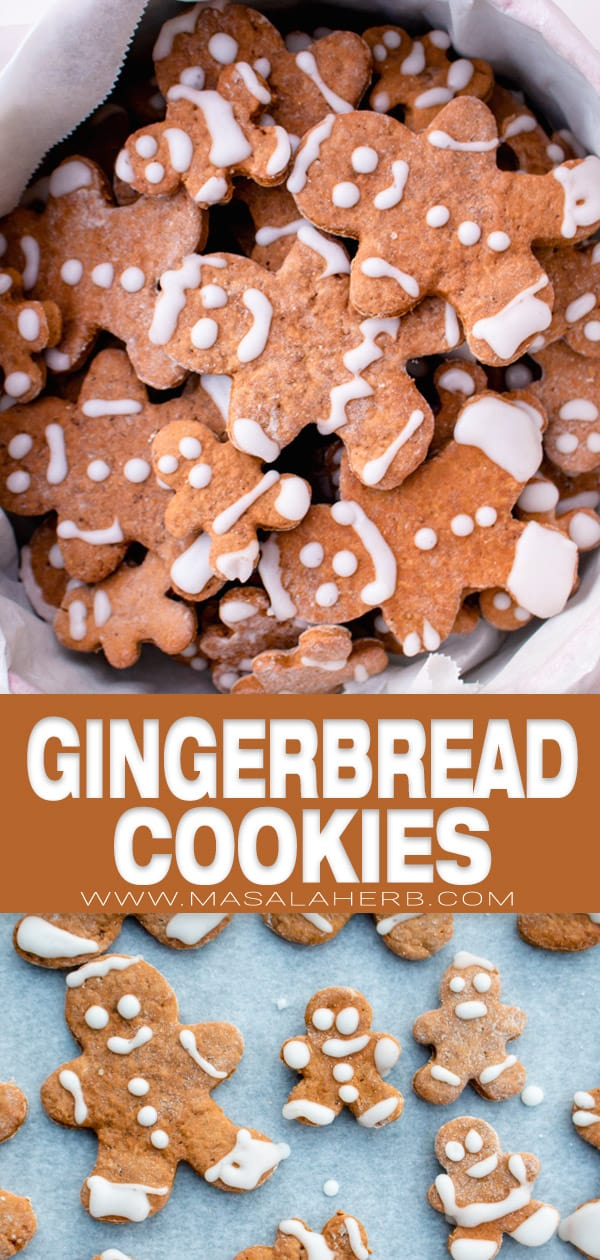 gingerbread cookies pin image
