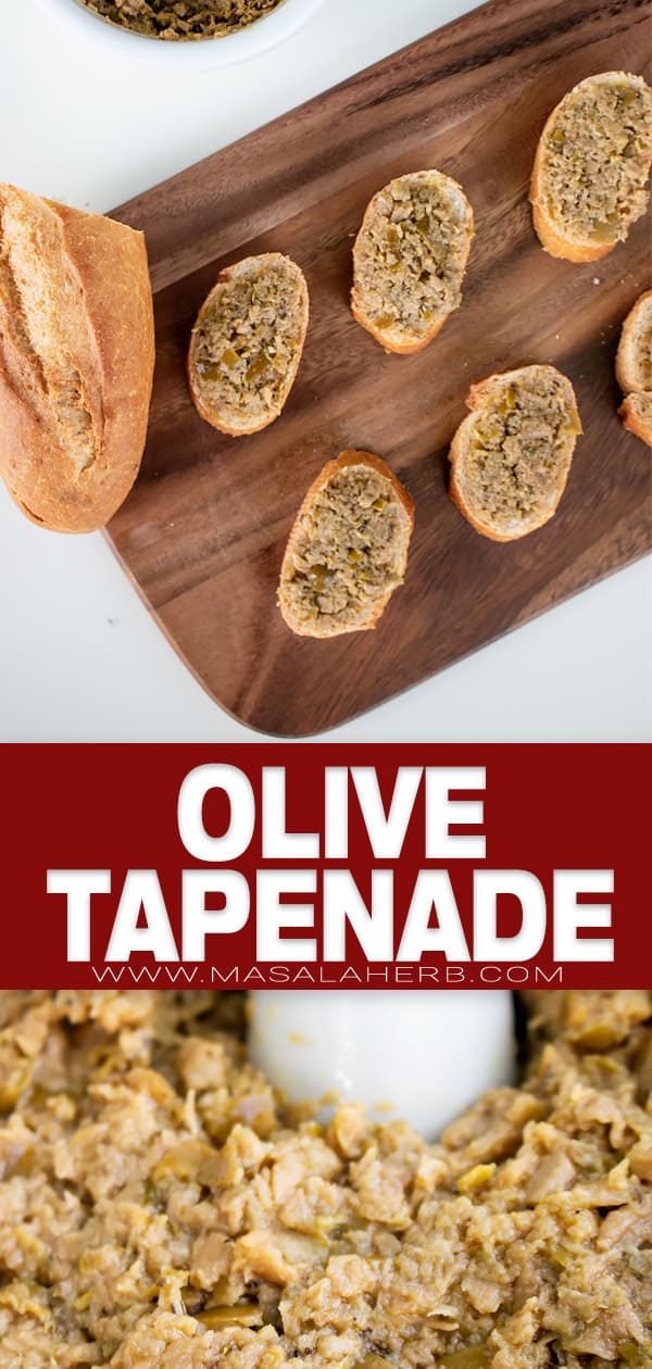 Olive Tapenade Recipe pin image