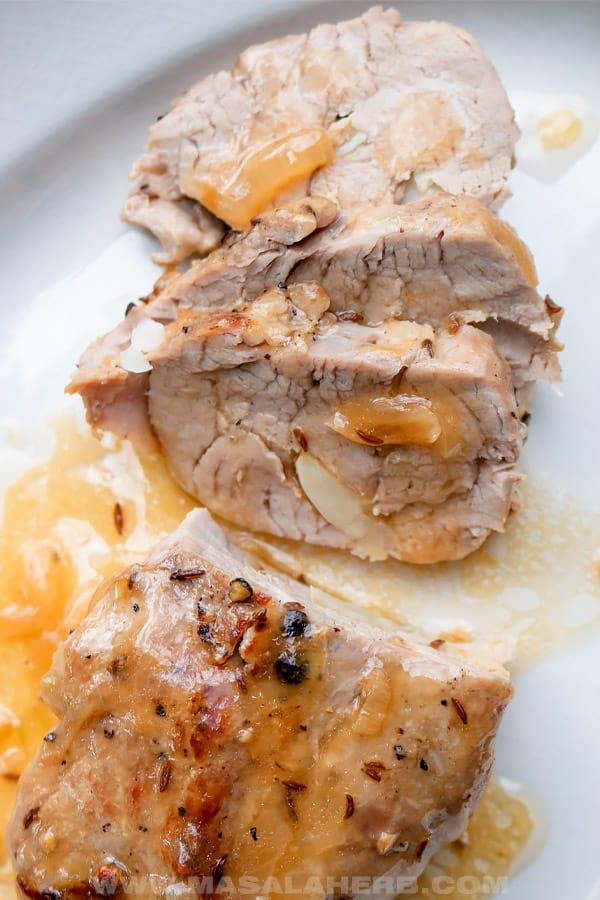 pork fillet cooked