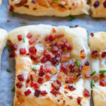 bacon over puff pastry
