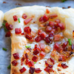 bacon cheese puff pastry squares
