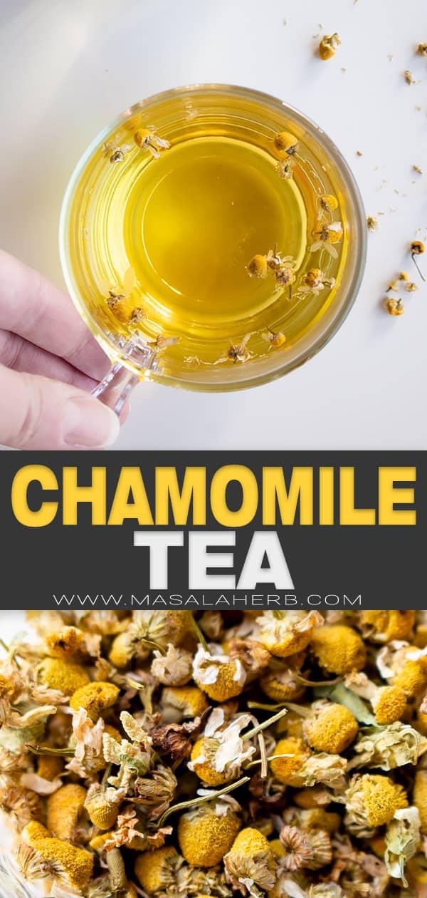 Homemade Chamomile Tea pin image