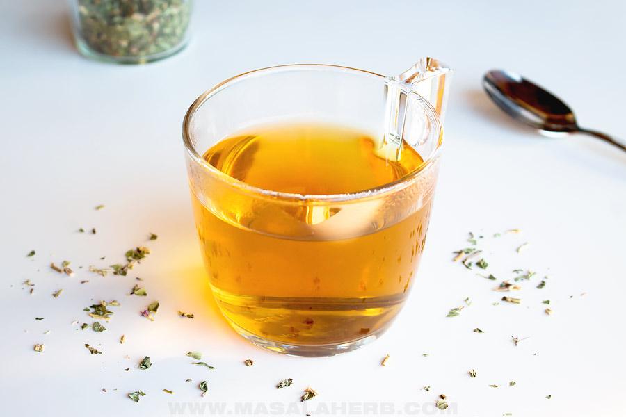 cup of oregano tea
