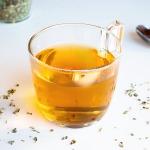 home brewed hot oregano tea