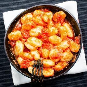 gnocchi coated tomato sauce