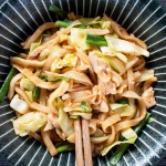 japanese udon noodles in a bowl