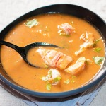 lobster bisque in a bowl