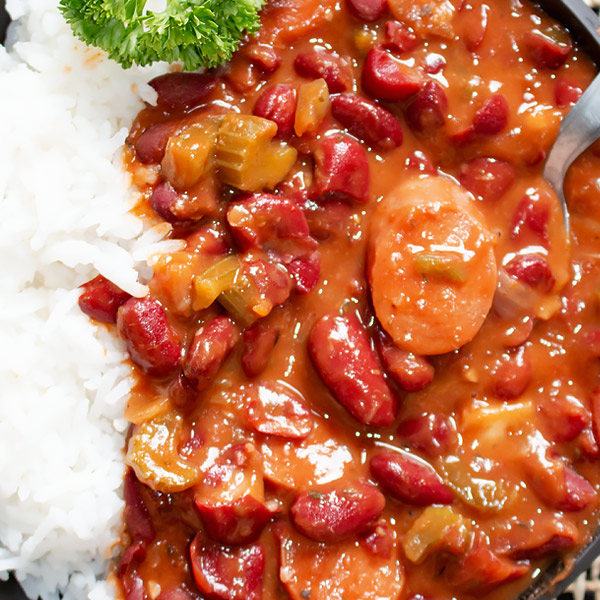 southern red beans sausages and rice