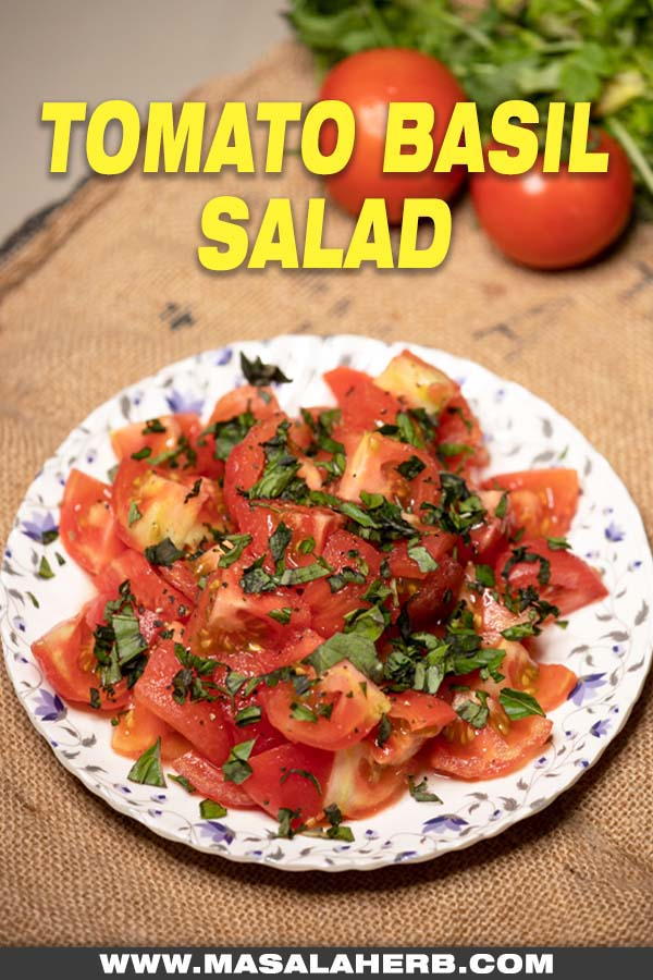 fresh tomato basil salad