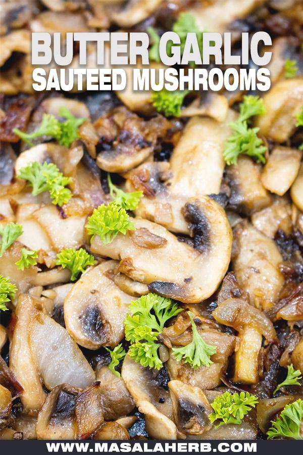 Butter Garlic Onion Sauteed Mushrooms image