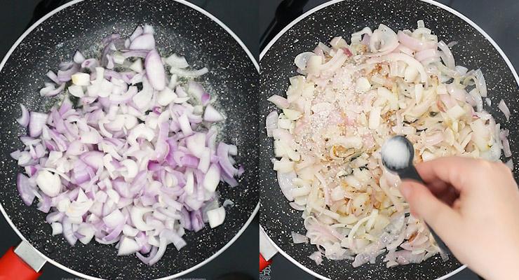 season sauteed onions