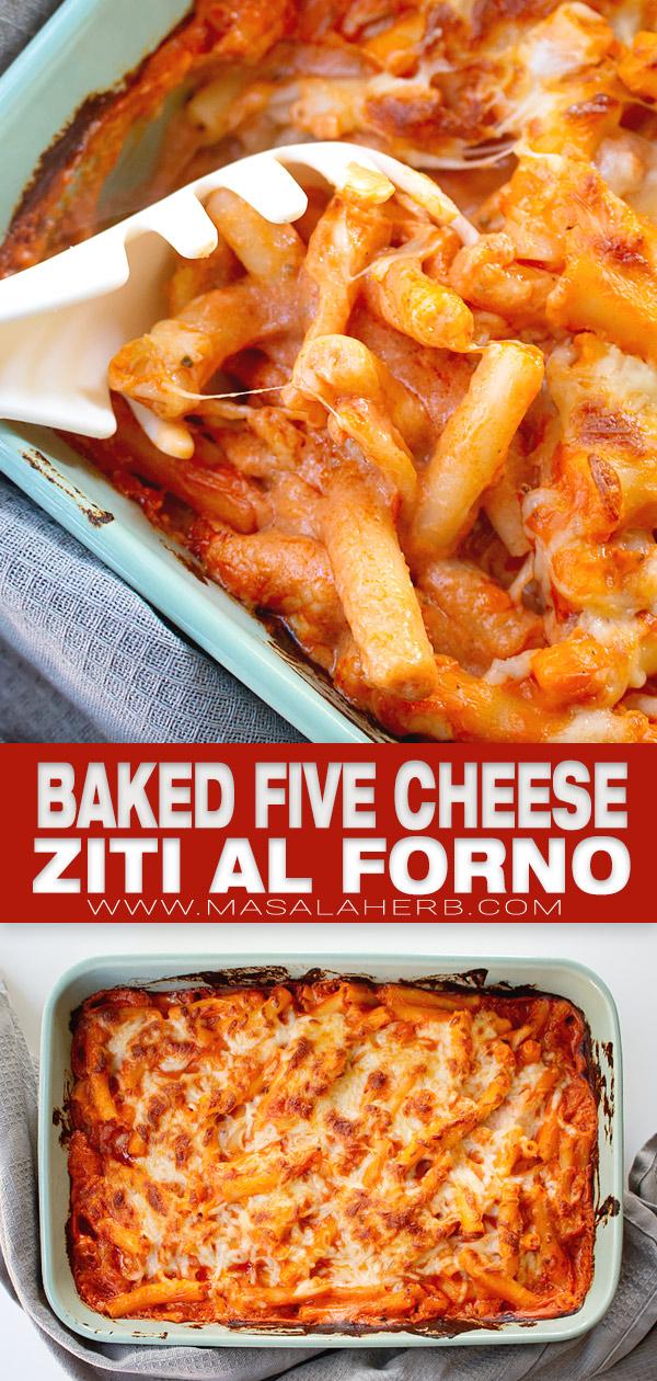 baked five cheese ziti al forno pn image