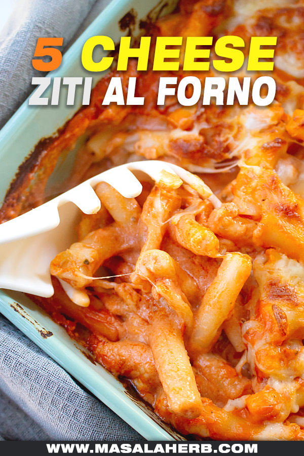 spoon and baked five cheese ziti