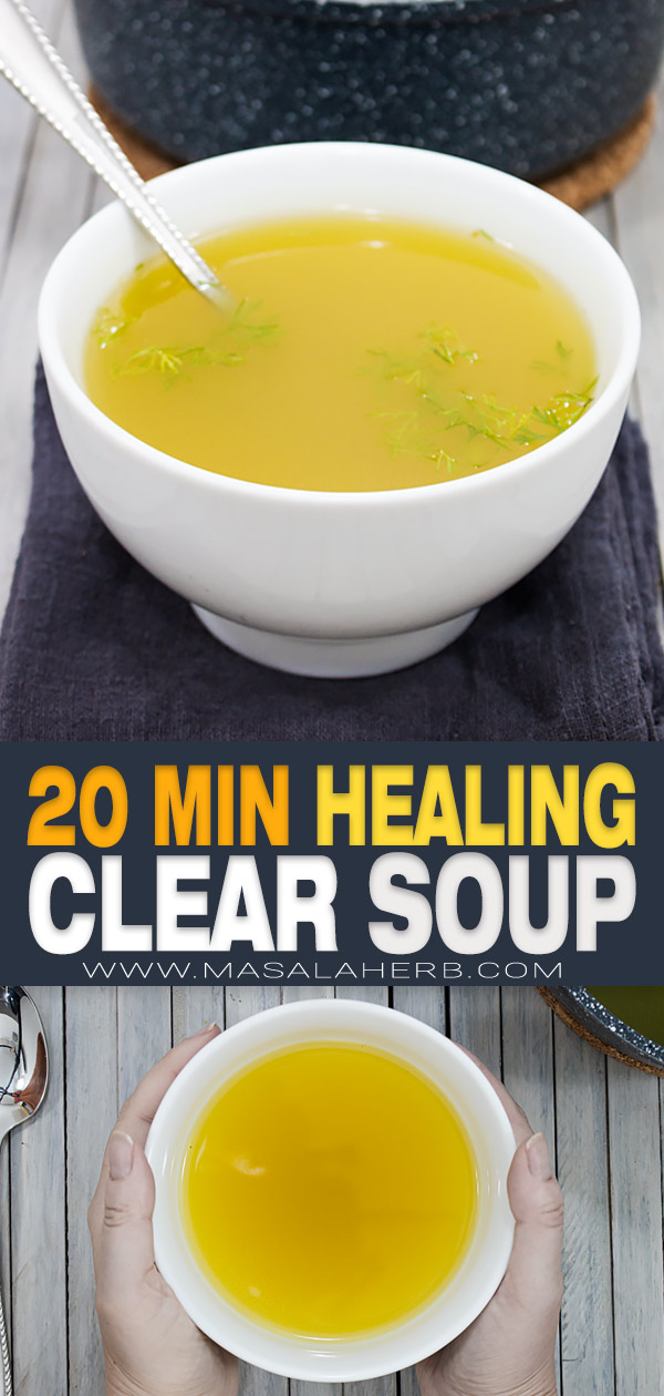 clear broth soup pin image
