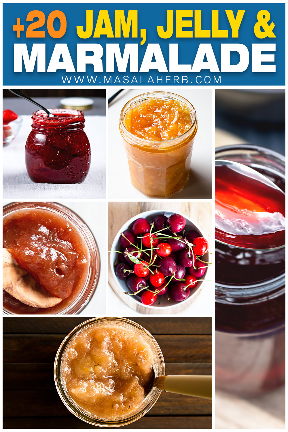+20 Jam, Jelly and Marmalade Recipe pin image