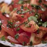 tomato basil fresh as a salad
