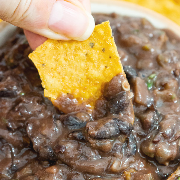 whole black bean dip