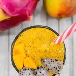 thick mango dragon fruit smoothie