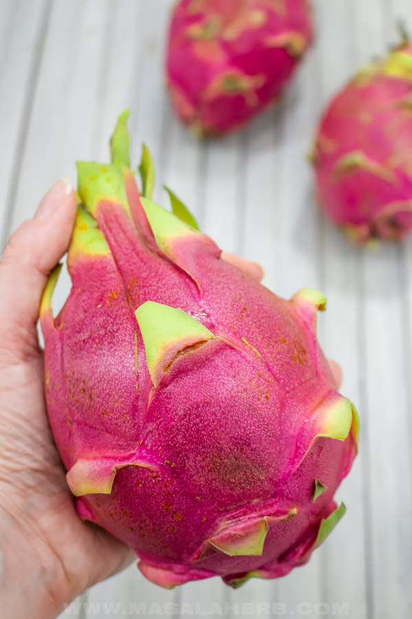 fresh whole dragon fruit