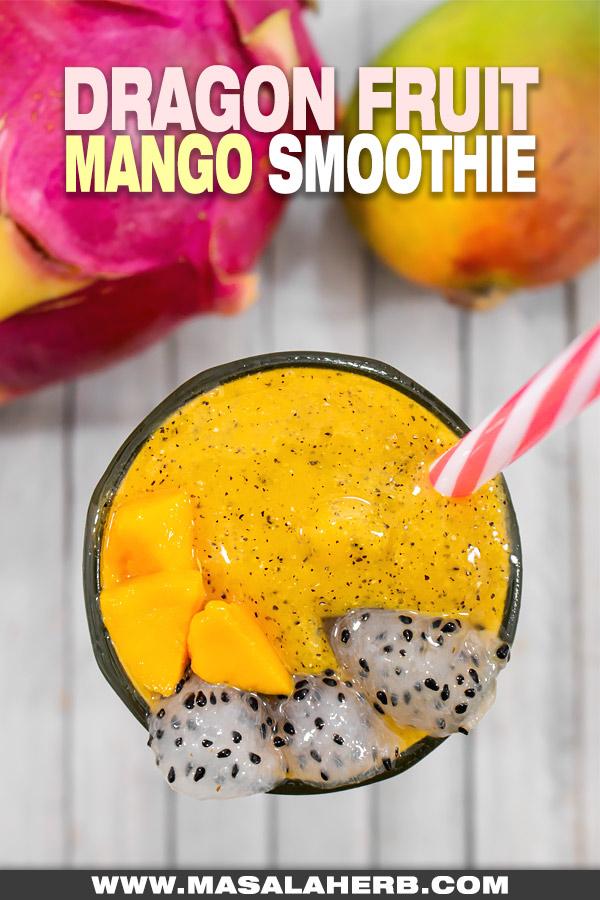 Tropical Mango Dragon Fruit Smoothie image