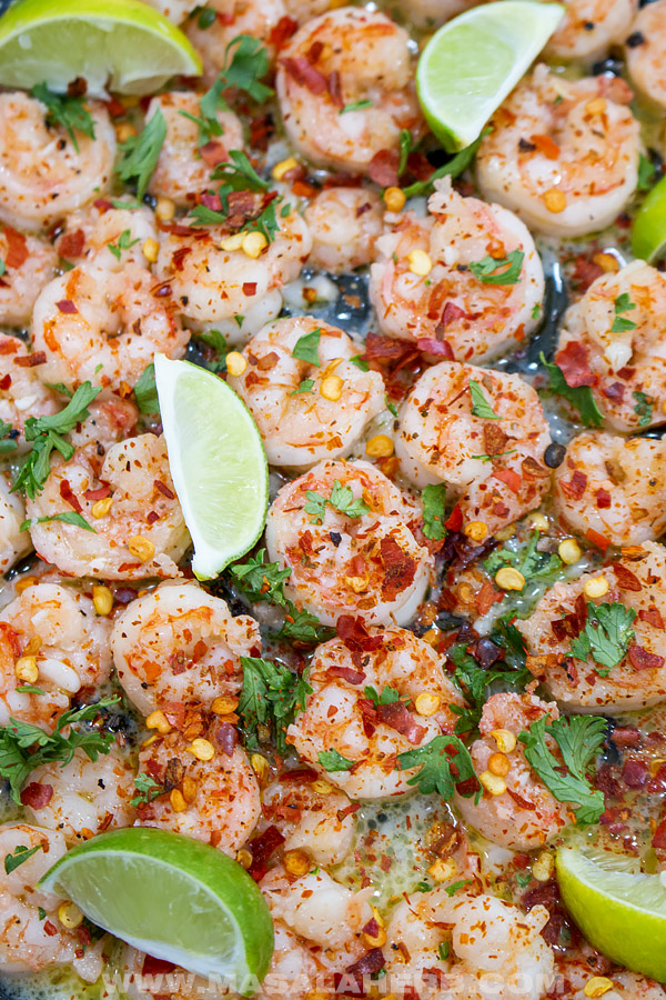 cilantro lime shrimp with crushed red pepper